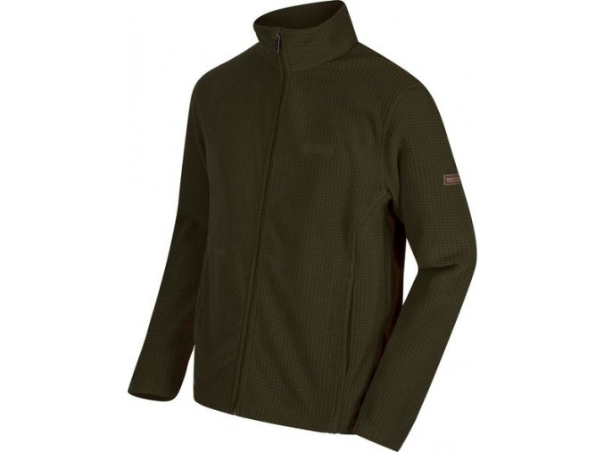 Pánská fleece mikina Regatta RMA293 EDDARD Dark Khaki