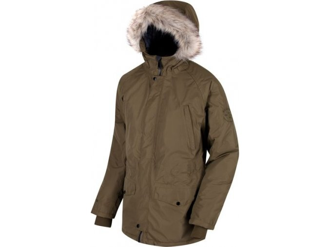 Pánská zimní bunda Regatta RMP211 SALTON Camo Green