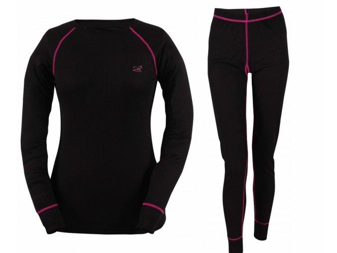 Dívčí termo prádlo (set) 2117 of Sweden ULLERED Černá