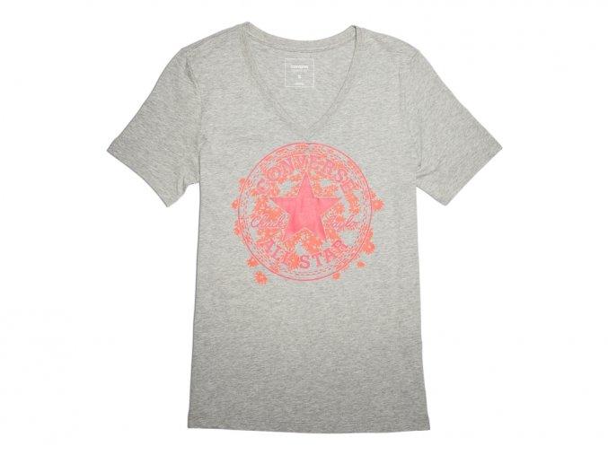 Dámské tričko Converse Daisy CP Vneck Tee Šedá