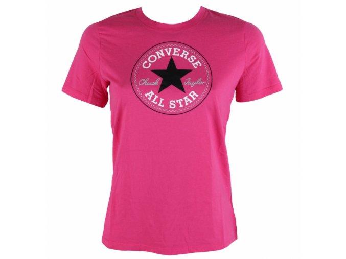 Dámské tričko Converse core solid Chuck Patch crew Růžová