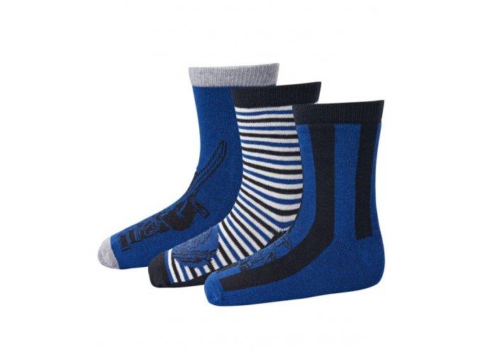 Chlapecké ponožky 3 páry LEGO® Wear AYAN 701 Modrá