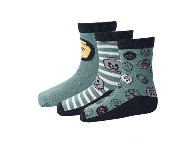Chlapecké ponožky 3 páry LEGO® Wear AYAN 702 Zelená