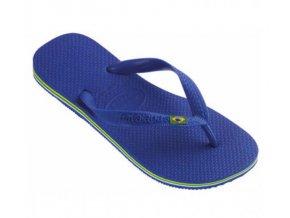 Dámské plážové žabky Havaianas BRASIL Logo Azul Naval Blue