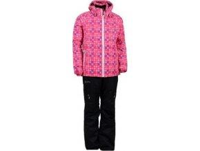 dziewczęcy komplet narciarski KILPI HILMA SKI SET-JG różowy
