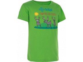 Dětské tričko KILPI AMAK-J světle zelená