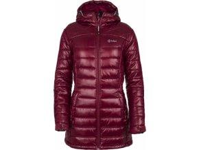 Damski pikowany płaszcz zimowy KILPI SYDNEY-W ciemnoczerwony