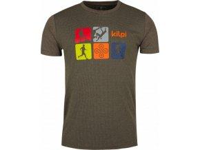 Pánské funkční tričko KILPI GIACINTO-M Hnědá