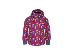 Dívčí lyžařská bunda KILPI AINO-K Potisk