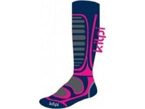 Unisex lyžařské ponožky KILPI ANXO-U Růžová