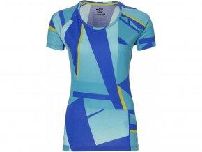 Dámské běžecké tričko 141213 Asics FUZEX Printed SS Modrá