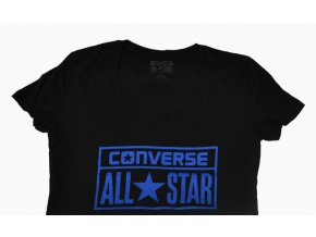 Dámské tričko Converse AWT LICENSE Plate SS VNEC Black