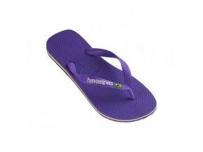 Unisex plážové žabky Havaianas BRASIL Logo Purple
