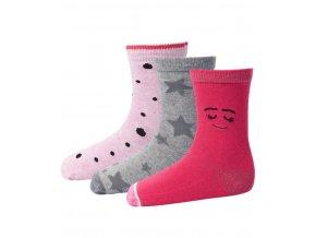 Dívčí ponožky 3 páry LEGO® Wear ALEXA 703 Růžová / Šedá