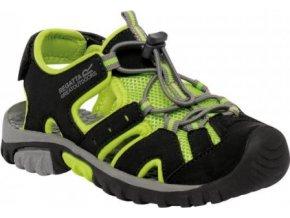 Juniorské sandály Regatta RKF413 DECkSIDE JNR Black / Lime green