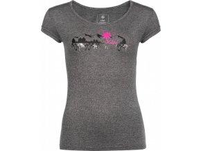 Dámské funkční tričko KILPI GAROVE-W Tmavě šedá 18
