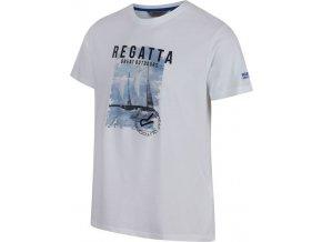 Pánské triko REGATTA RMT153 Cline II Bílá