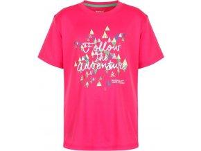 Dívčí tričko Regatta RKT079 ALVARADO III Růžová